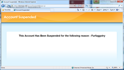 suspended for furfaggotry(!)