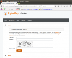 Dark Wars: A phishing site impersonating the AlphaBay Market