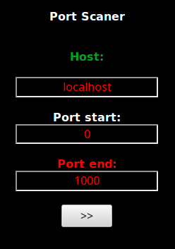 Port scanner options from a web shell