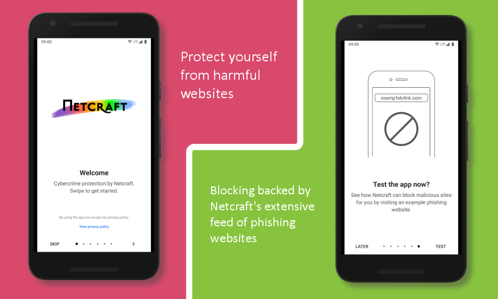 Protect yourself from harmful websites; Blocking backed by Netcraft's extensive feed of phishing websites.