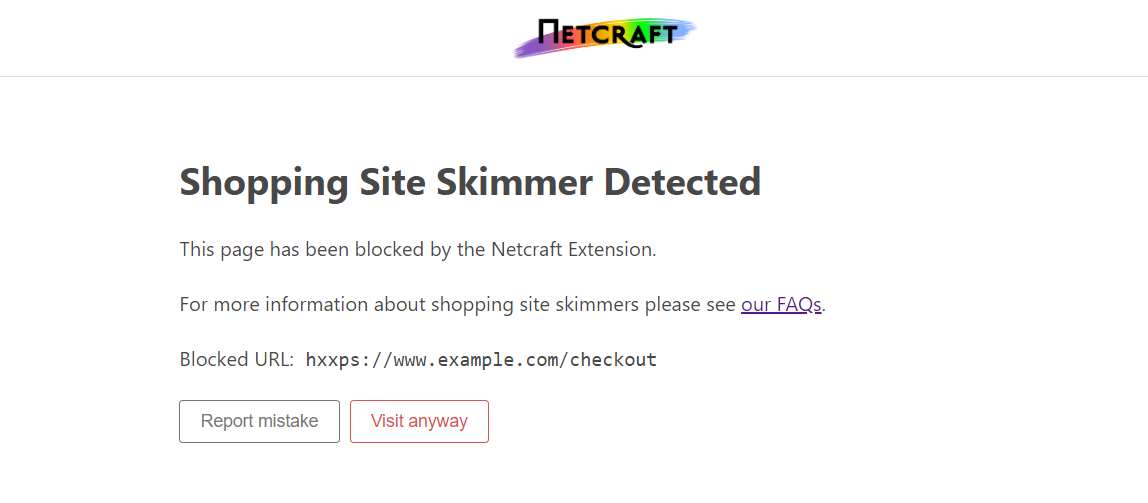 The Netcraft Extension now protects against malicious JavaScript
