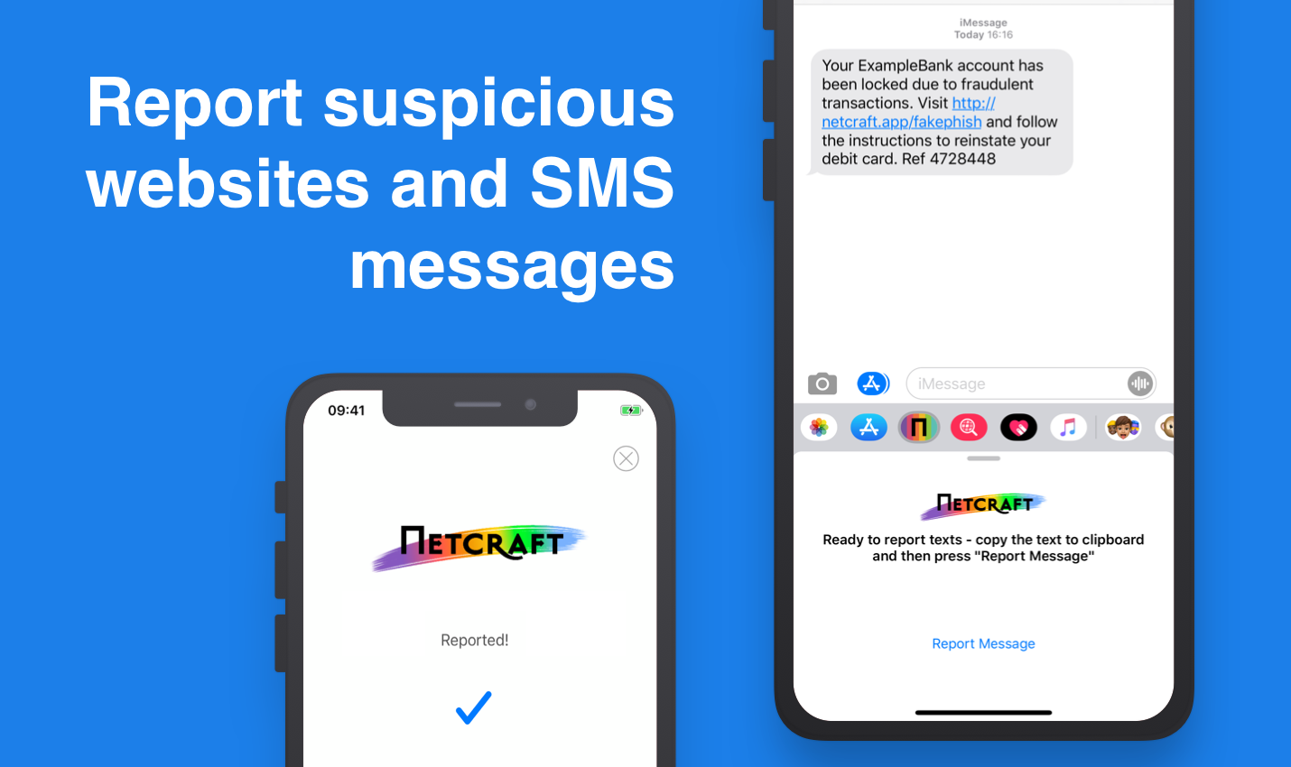 Report suspicious websites and text messages